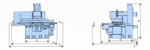 유일연삭기 평면연삭기 YGS-137A 2