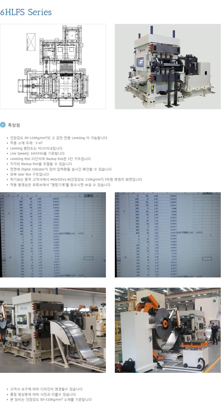 영림기계 Precision Leveller YPL/6 HLFS-Series 1