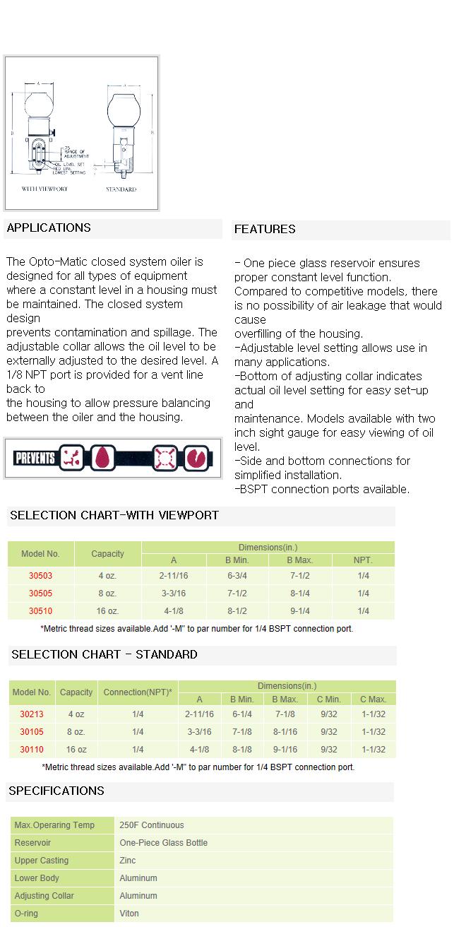 영풍정밀 OPTO-Matic Closed System Oiler  1