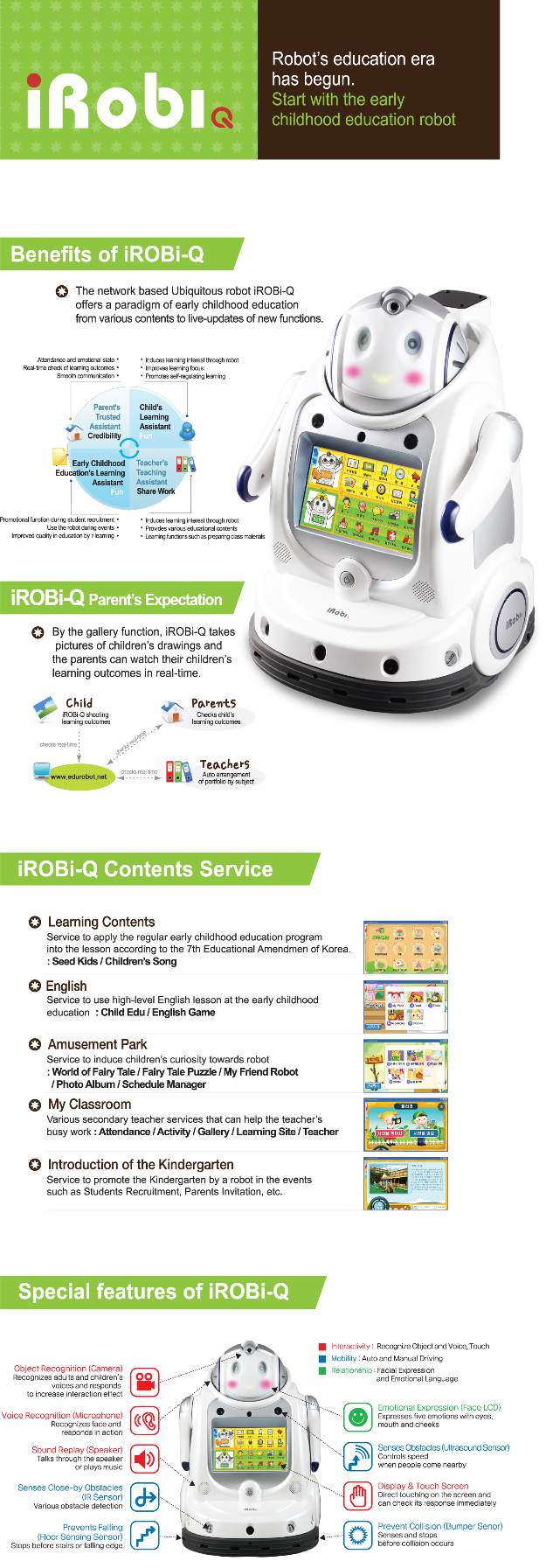 YUJIN ROBOT iRobi Q YHR-IR003-WD3