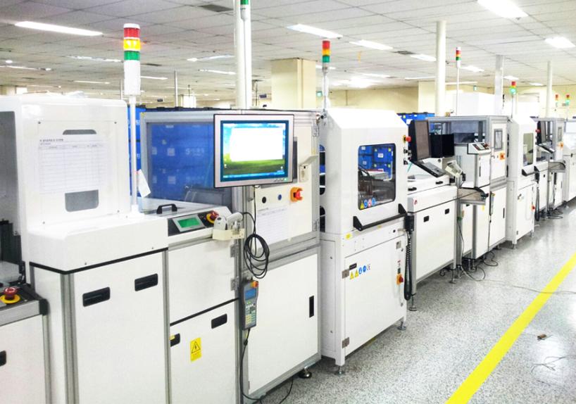 유진로봇 BCM ECU 코팅 Line
