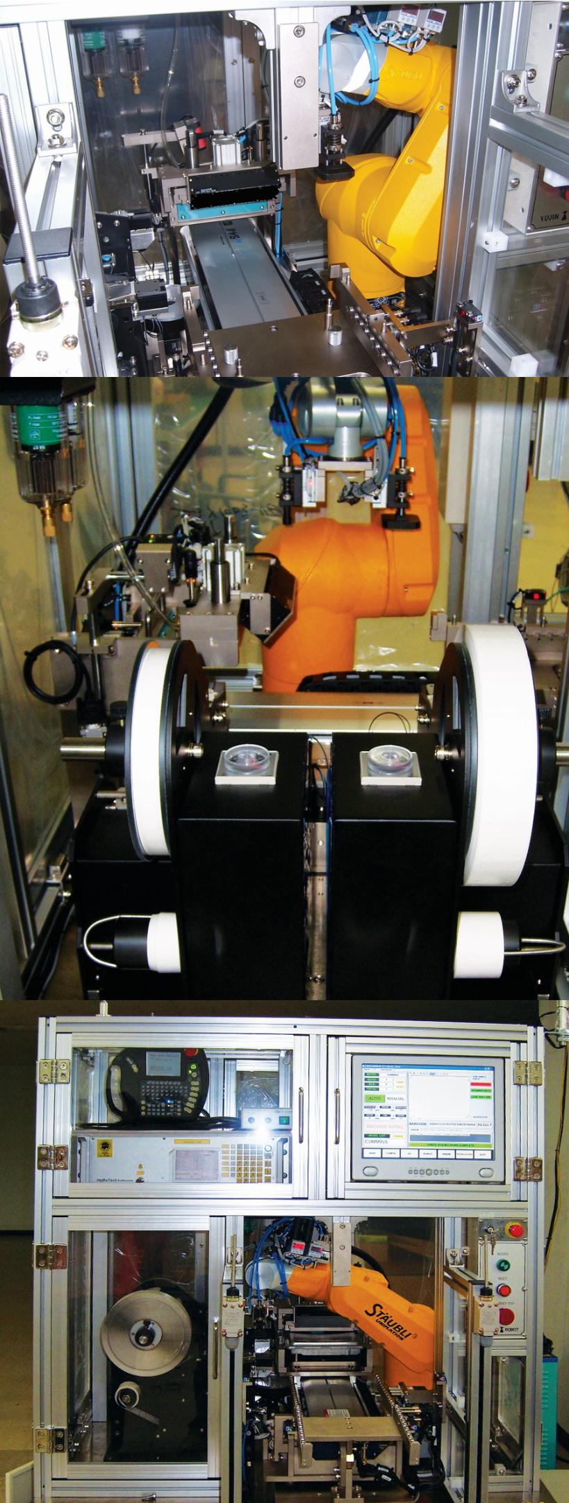 유진로봇 Breather Assembly & Leakage Test Machine