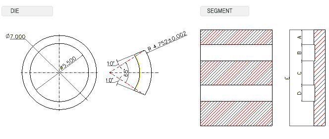 Zeus Techno Inc. Feeding Planetary Thread & Form Rolling Machine T/C DIES 2