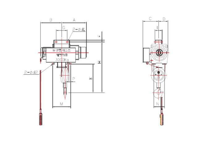 Suspension Type Hoist DY P Series details
